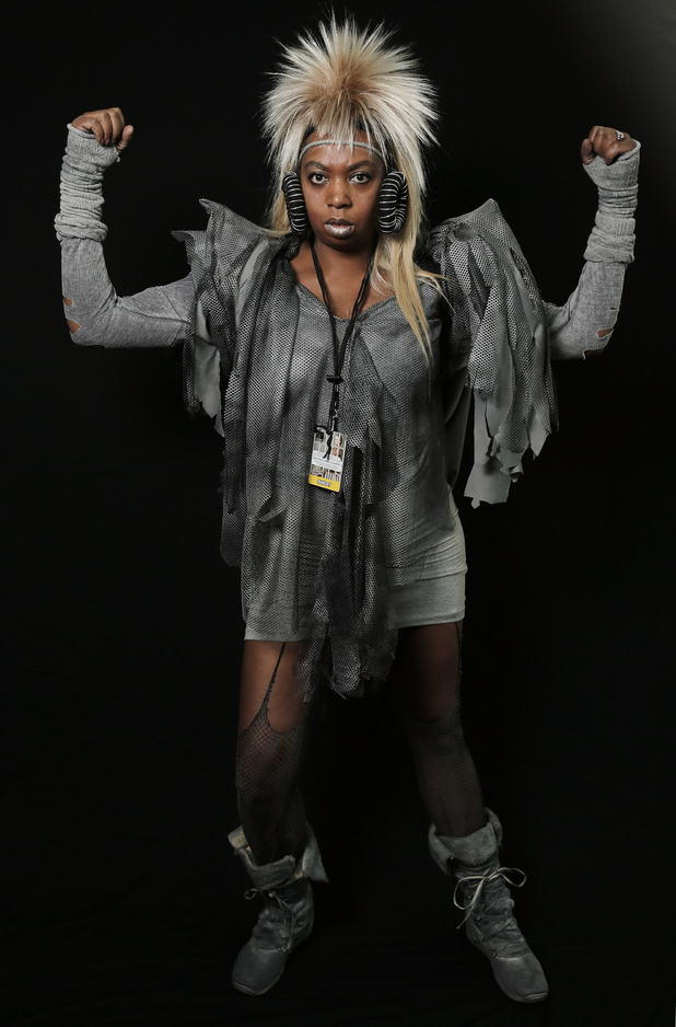 NEW YORK, NY - OCTOBER 12: Comic Con attendee Kerri Nugent poses as Aunty Entity from Mad Max 3 during the 2014 New York Comic Con at Jacob Javitz Center on October 12, 2014 in New York City. (Photo by Neilson Barnard/Getty Images)