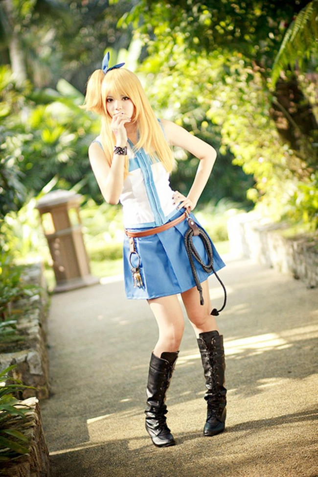 Fairy Tail Lucy Cosplays + Dresses + Boots + Wig - Rolecosplay