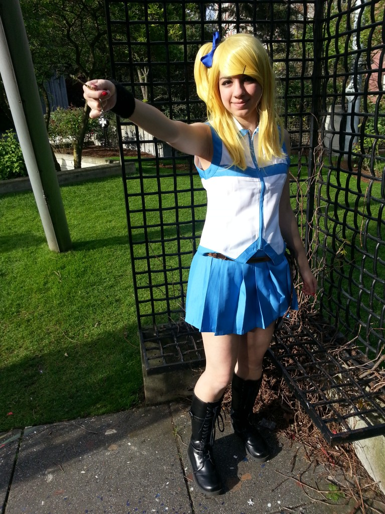 fairy tail lucy cosplays   dresses   boots   wig