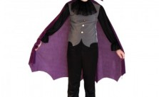 Purple Color Children's Vampire Suit Make Your Halloween Party Perfect