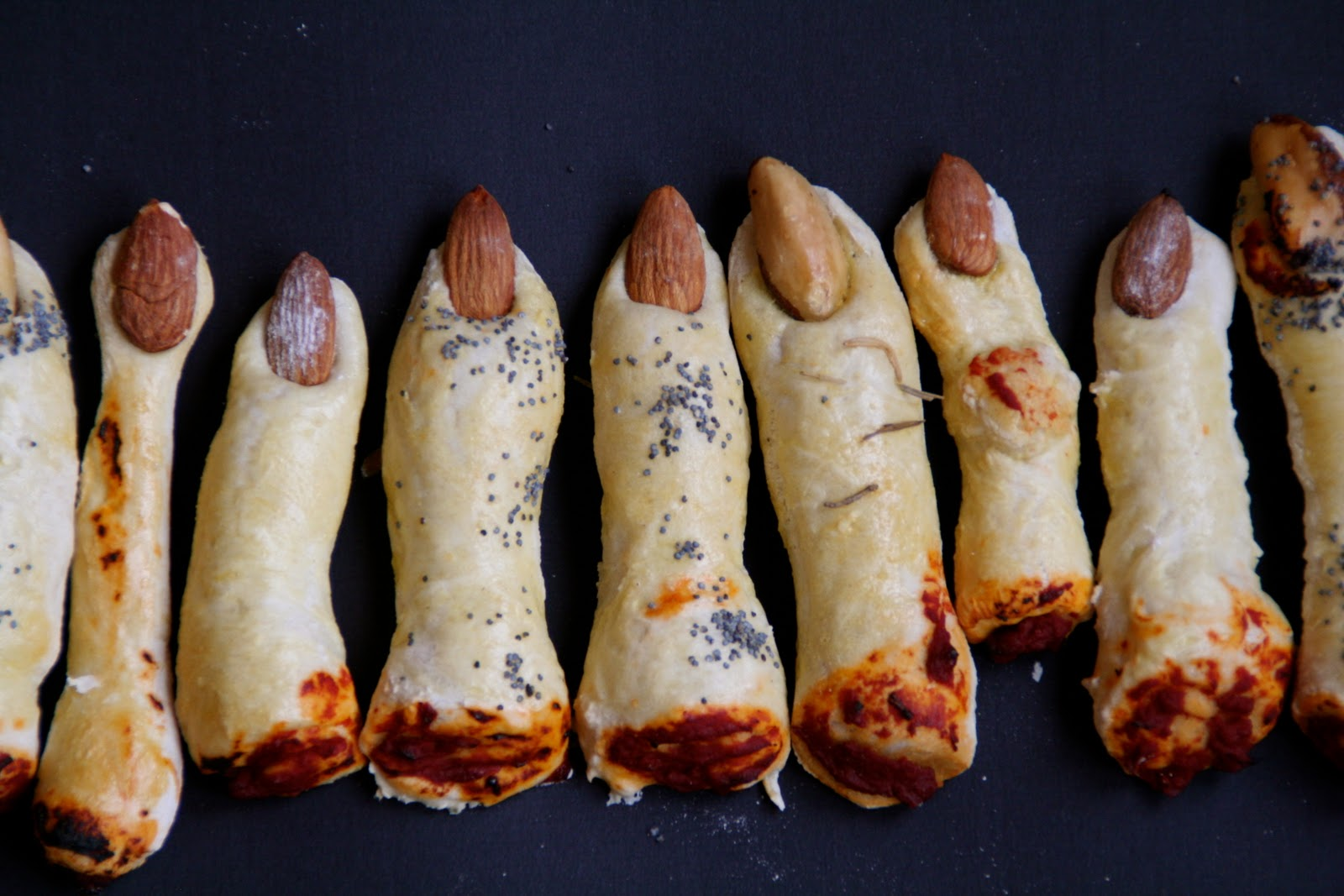 monster fingers halloween food idea