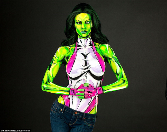 This Talented Girl Transforms Herself Into Trippy Comic Superheroes Using JUST Body Paint -