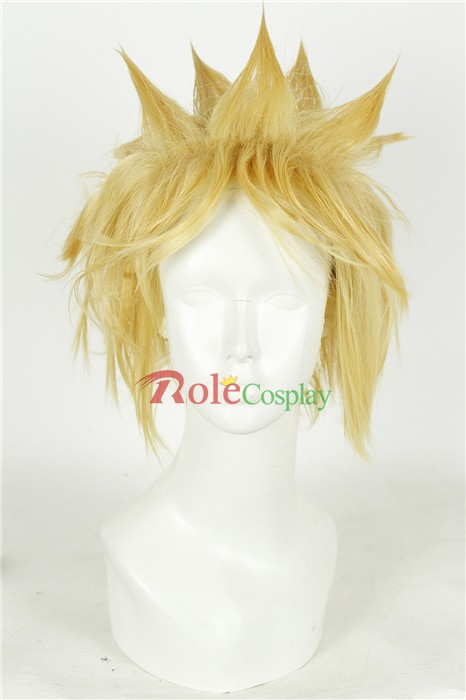 Tutorials Help You to Style Final Fantasy Cloud Strife Cosplay Wig