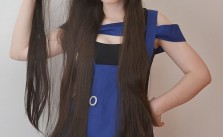 ROLECOS' 100cm long light brown straight fashion wig review