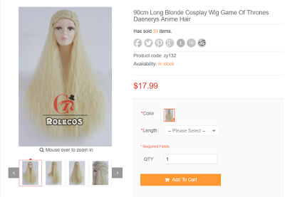 Rolecospaly - Daenerys Wig Review