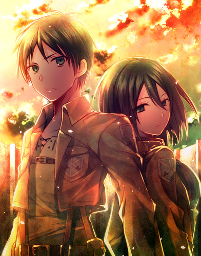 Top 15 best anime couples rolecosplay - Eren and mikasa wallpaper ...