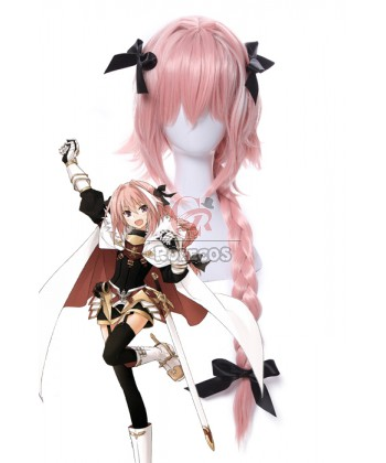 fate_apocrypha_astolfo_pink_long_braid_cosplay_wigs