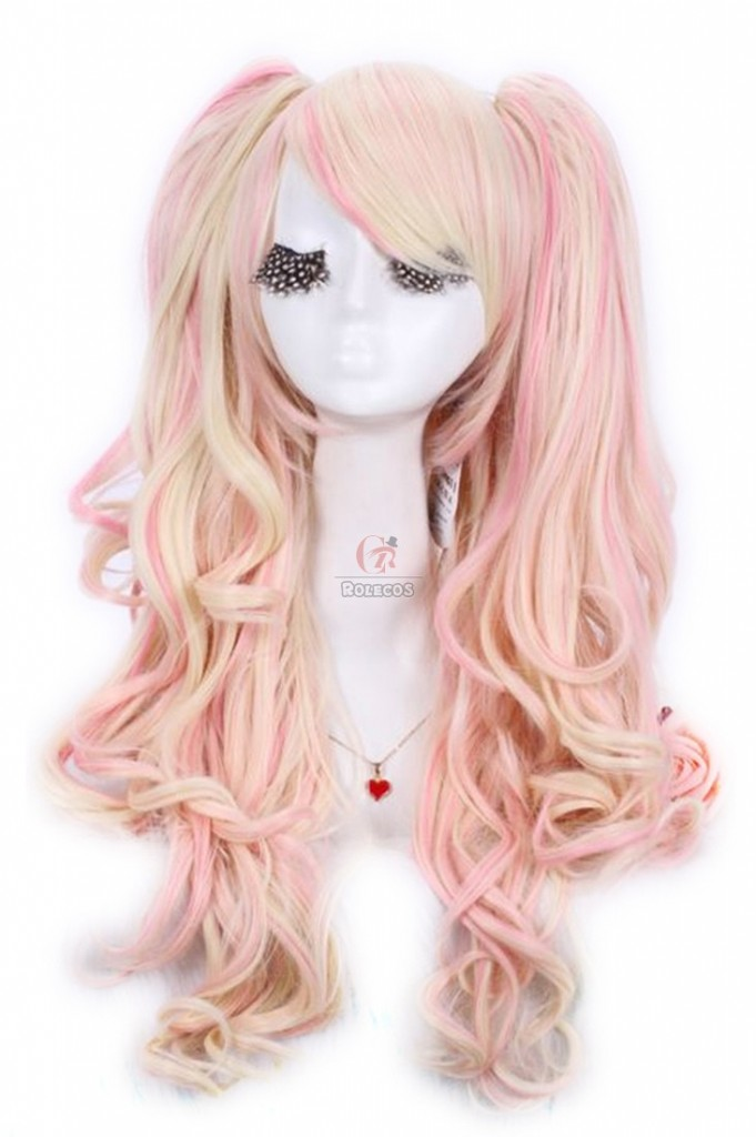 Long Curly Multi Color Cosplay Girls Wigs
