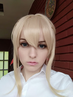 Violet Evergarden wig from Rolecosplay by Shiro Ychigo
