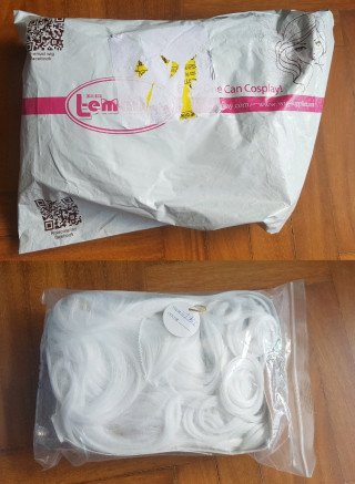 Review of 70 cm Long White Wave Synthetic Hight Temp Cosplay Wig