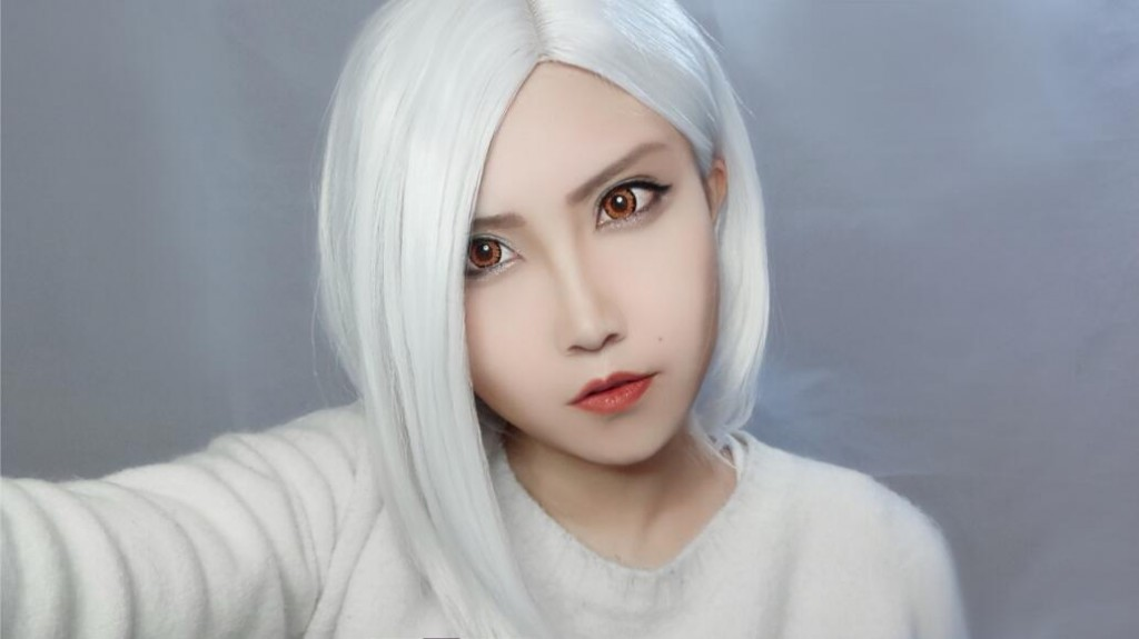 OW Ashe cos Makeup Tutorial-11
