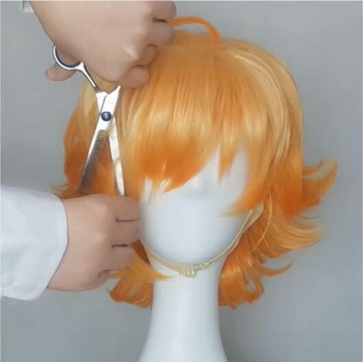 The promised neverland, Emma wig tutorial 3