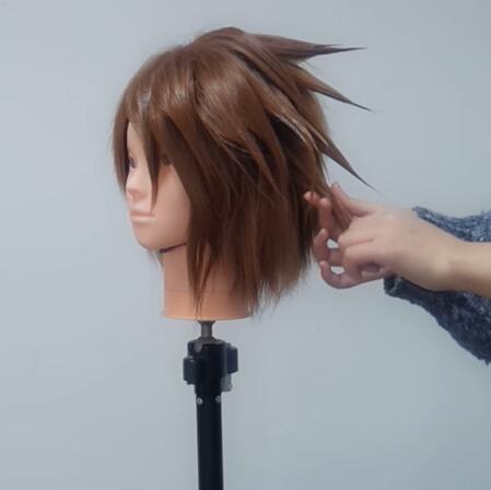Wig Tutorial - Kingdom Hearts III Sora (2)