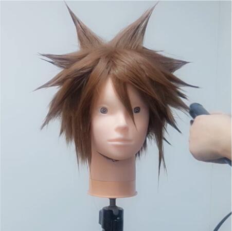 Wig Tutorial - Kingdom Hearts III Sora (4)