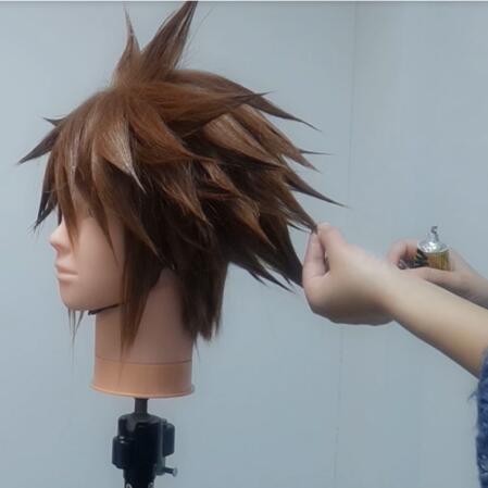 Wig Tutorial - Kingdom Hearts III Sora (5)
