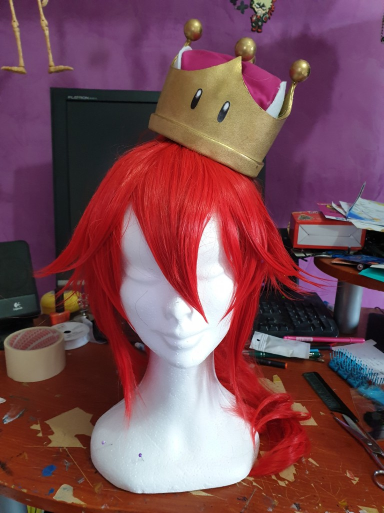 Super Mario Bowsette Red Wig Review by kaedeshiranui-3