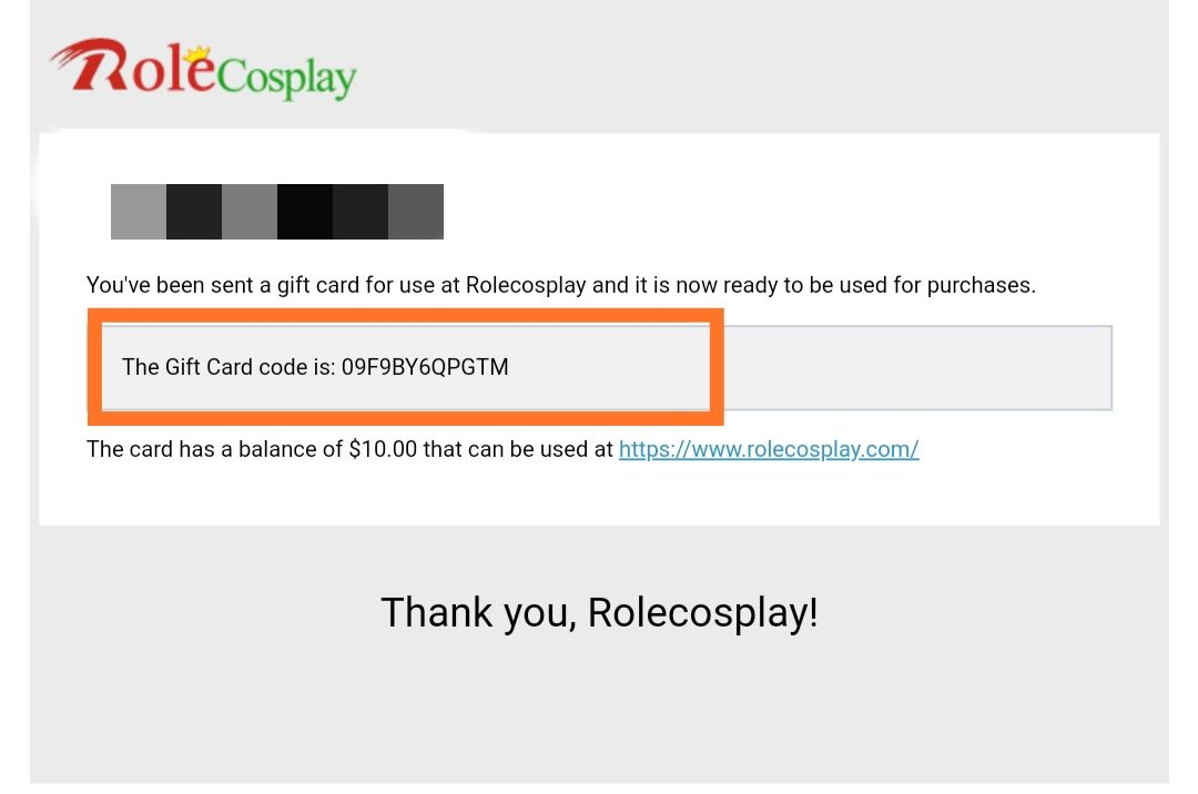 How to use a Gift Card on RoleCosplay shop-2