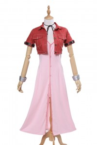 Final Fantasy VII 7 Aerith Cosplay Costume Review-10