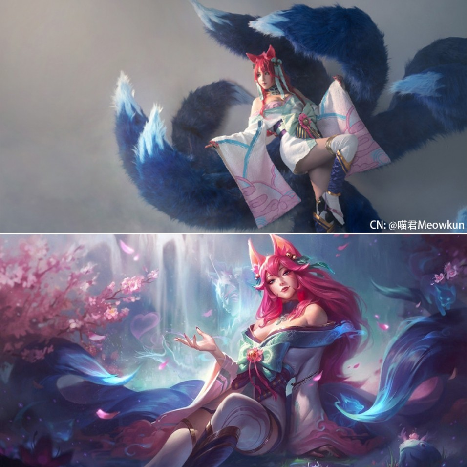 Wonderful LOL Spirit Blossom Ahri Cosplay (1)