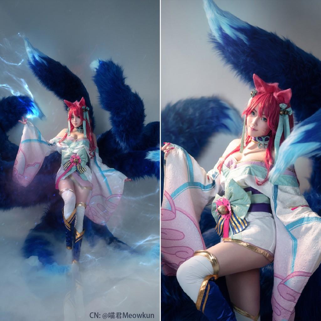 Wonderful LOL Spirit Blossom Ahri Cosplay (3)