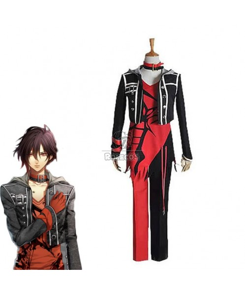 Amnesia Shin Black Mixed Red Suit Cosplay Costume
