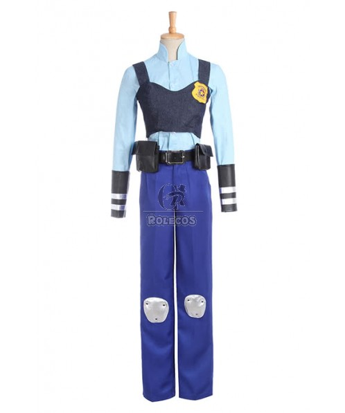 2016 Zootopia Zootropolis Officer Judy Hopps Cosplay Costumes