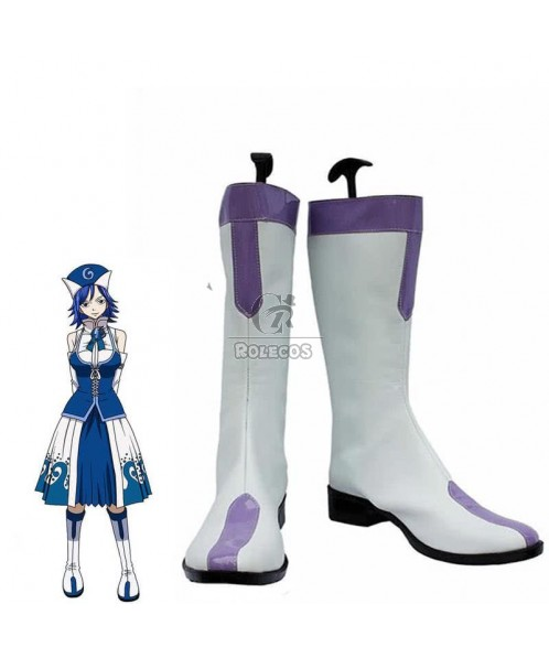 Fairy Tail Anime Juvia Lockser Cosplay Shoes Boots
