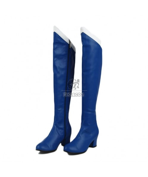 Hot Anime Sailor Moon Sailor Mercury Blue Cosplay Shoes Boots Custome Customized