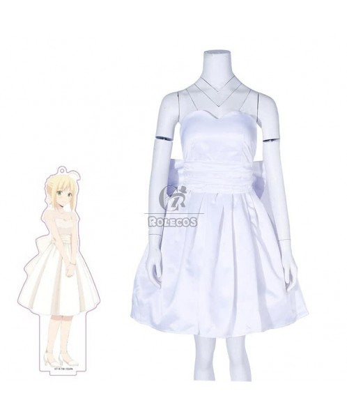 Fate Grand Order Saber White Dress Cosplay Costume