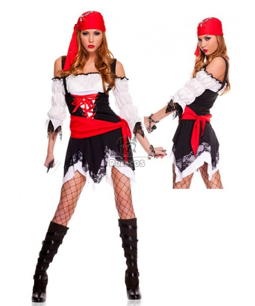 Sexy Suspenders Pirate Helloween Costume Lingerie Outfits Cosplay