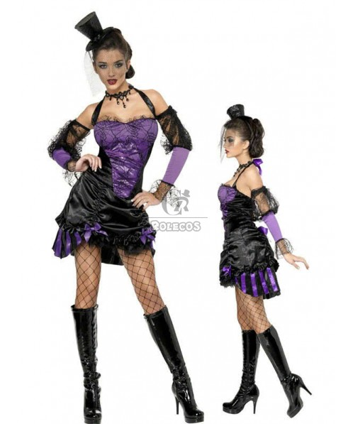 Fashion Women's Purple Vampiress Halloween Costume hot tight dress sexy wear