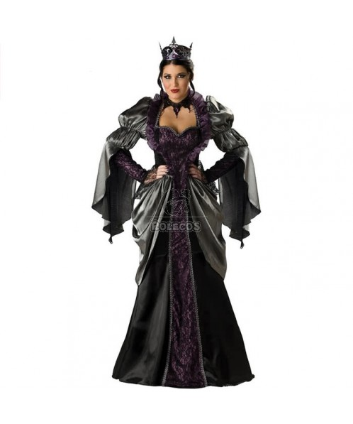 Sexy womens Vampire Queen Halloween costume fancy long dress