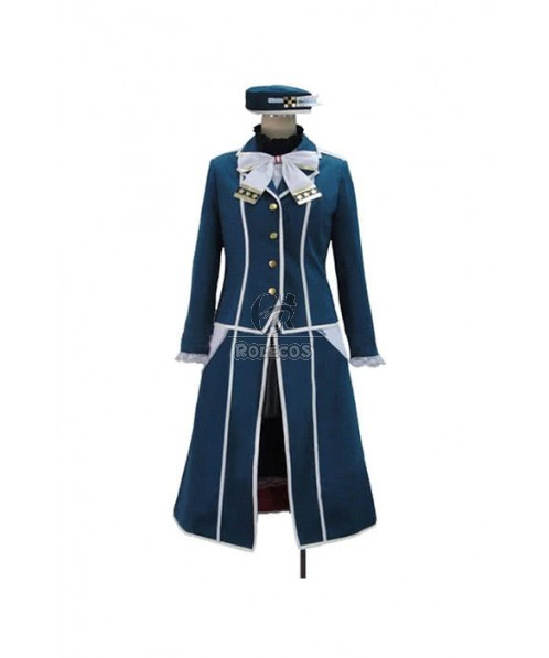 Kantai Collection Kancolle Takao Cosplay Costume Blue Uniform