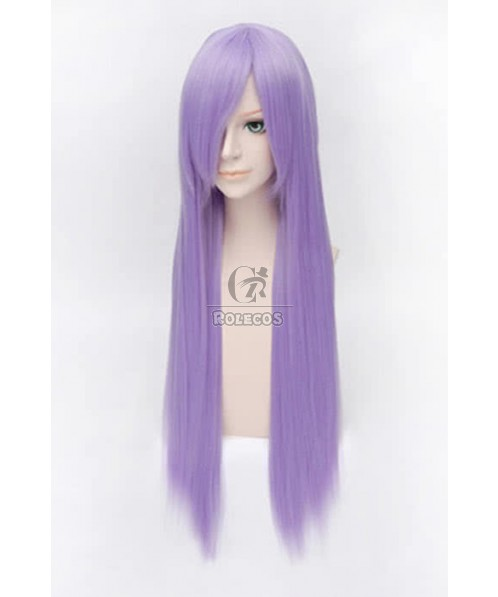 80cm Purple Straight Touhou Project Reisen Udongein Inaba Cosplay Wig