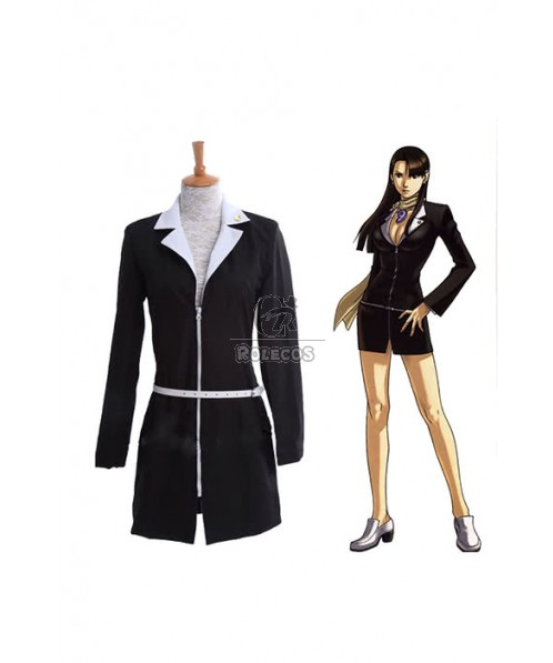 Ace Attorney Mayoi Ayasato Mia Fey Adult Women Office Dress Suit Cosplay Costumes
