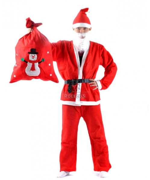Christmas Santa Claus Costume With The Beard So Smart