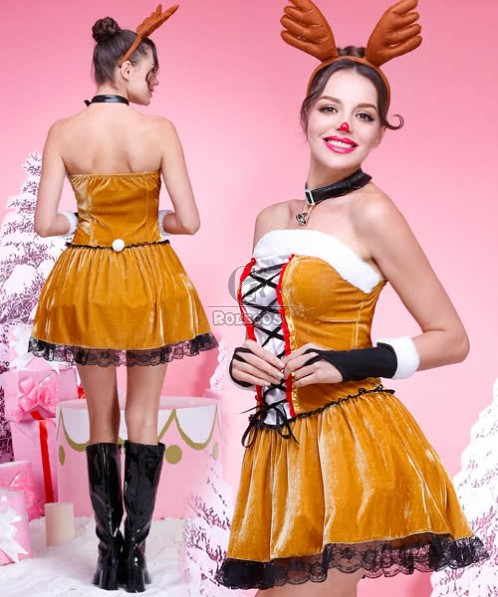 2015 New Style Christmas Costumes of Deer Fawn Loaded