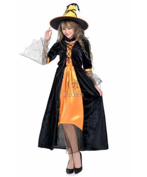 Halloween Women Witch Dresses Cosplay Costumes