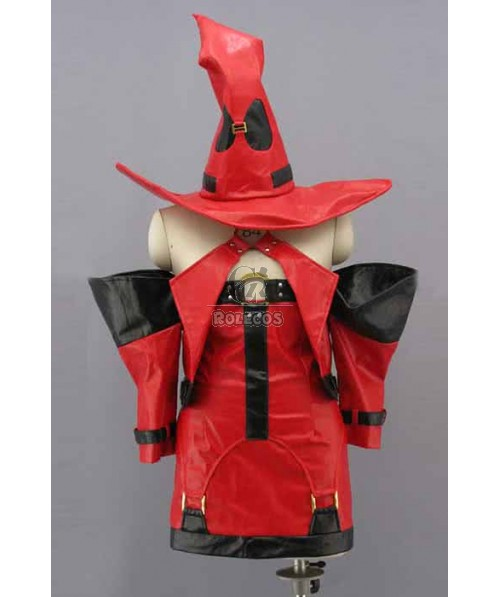 Guilty Gear Red Suit With Red Hat Cosplay Costume