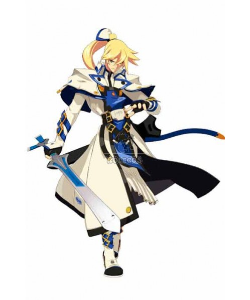 Guilty Gear KY KISKE White And Blue Suit Cosplay Costume