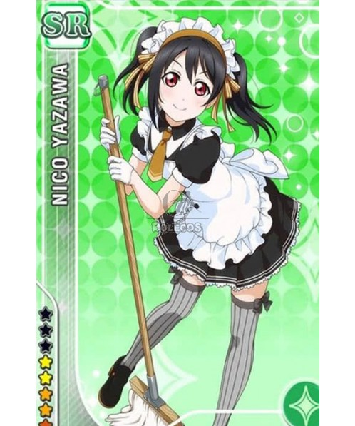 Love Live! Anime Cosplay Costumes Maid Uniforms Black and White Dresses