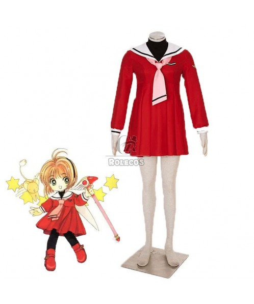 Cardcaptor Sakura Kinomotosakura 4th Version Red Sailor Cosplay Costumes