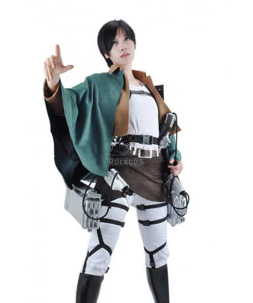 Attack On Titan Eren Jaeger The Recon Corps Uniform Outfits Cosplay Costume