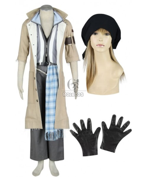 Customized Final Fantasy XIII Snow Villiers Cosplay Costume