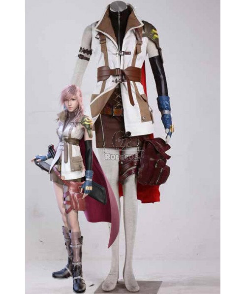 Final Fantasy 13 - Thunder Red Cloak Suit Cosplay Costumes