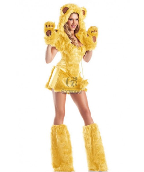 Animal Cosplay Bear Plush Cosplay Costume Dress