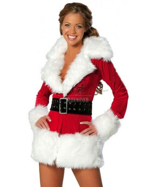 European and American Christmas costumes party dress warm long sleeve uniform