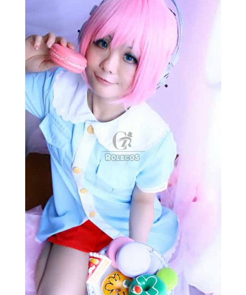 Super Sonico Childhood Suit Cosplay Costume