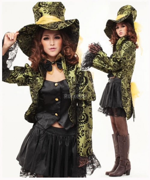 Adult Fairytale Cosplay Costume and the leveese with Black Lace of the West Outfit
