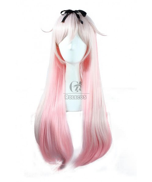 Kantai Collection Kancolle Destroyer Yudachi 80cm Long Straight Pink Cosplay Wig